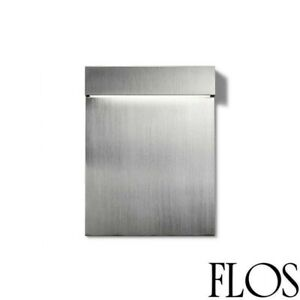 Flos Real Matter LED Wall Lamp Recessed 3W 2700K Stainless Brushed