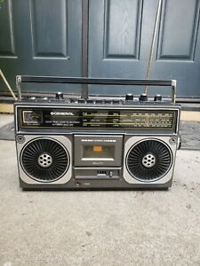 VTG 80'S GENERAL GS-300 BOOMBOX STEREO RARE
