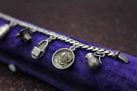 Antique Vintage Mexico Sterling Silver 925 Child Charm Bracelet OLD Water Jar