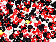 5 Pcs Mixed Mouse Flatback Cabochon Craft DIY Decoden Kit Minnie Bows Mickey