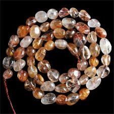 """V2534-z Rutilated Quartz Loose Beads 15.5"""""""