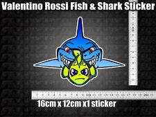 Fish & Shark Decal Sticker x1 helmet bike car scooter 46 agv GP