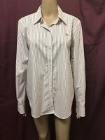 Lauren Ralph Lauren Polo Shirt Womens ~ Size 12 ~ Great Cond L/S Blouse Stripes