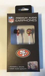San Francisco 49ers iHip Premium Audio Earphones Earbuds - iPhone iPod NEW