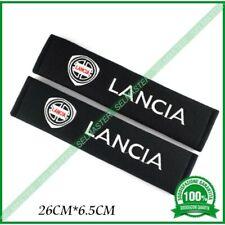 2 pezzi accessori COPRI CINTURA DI SICUREZZA CUSCINO logo LANCIA Y Ypsilon