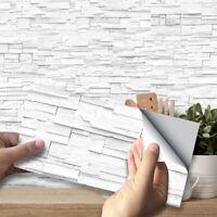 9Pcs Mosaic Stick On Self Adhesive Wall Tile Sticker Kitchen Bathroom Decor