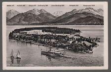 478 P AK  Ansichtskarte  Herreninsel im Chiemsee mit Bergen   Bayern