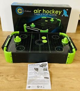 Table-Top Neon Colour Table Air Hockey Game - 8 x AA Batteries Included.