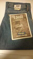 "BNWT Women's Wrangler Linda Loose Jeans Size W24"" L33"" (BX11) Vintage Stonewash"
