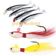 Inshore Fishing Hard Lures Crankbait Bucktail Jigs Saltwater Minnow Bass Striper