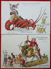 CPA France,2 cartes de Nice(Alpes-Maritimes)1)Mme Carnaval/2)Mr Caranaval 1903