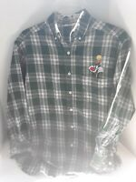 Looney Tunes Classic Oxford Flannel Shirt Mens Tweety Sylvester Green Plaid XS