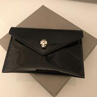 ALEXANDER MCQUEEN skull envelope cardholder Black