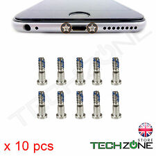 10 x Bottom Screw Pentalobe Silver Screws for Apple iPhone 6S & iPhone 6S Plus