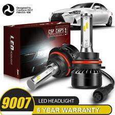 9007 HB5 LED Headlight Bulbs 60W 12000LM Kit High Low Beam 6000K Clear White DWU