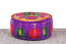 Vintage Handmade Patchwork Floor Foot Stool Pouf Ottoman Cover