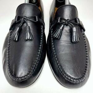 Allen Edmonds Urbino Made in Italy Men's Black Tassel Slip-On Loafers 49190 11 D