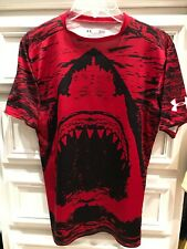 Under Armour Alter Ego Mens Shark Image  Fitted Compression Shirt sz L  RED