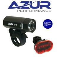 Azur Blaze Front & Rear 40/25 Lumens Bike Cycling Bicycle Light Set Combo