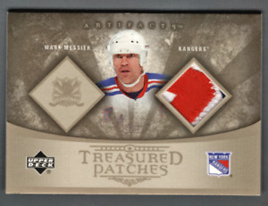 2005-06 UD Artifacts Pewter Patch Mark Messier #1/1 Rangers Treasured Patches