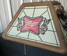 "Vintage Miller High Life Hanging Plastic Advertising Bar Light 20"" X 20"" X 11"""