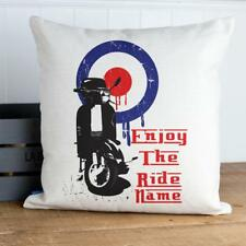 Personalised Scooter Cushion Cover Lambretta Vespa Fathers Day Dad Gift KC46