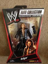 RARE WWE BOXED EDGE ELITE COLLECTION SERIES 1 MATTEL WRESTLING FIGURE SIGNED!!!