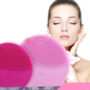 Silicone Electric Facial Massage Brush Cleansing Super Soft Sonic Face Cleanser