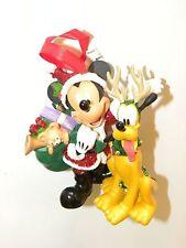 Disney world park 2014 christmas ornament mickey pluto duffy holiday figurine