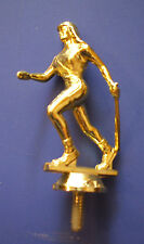"""female softball batter 3"""" tall lot of 63 trophy parts mfg by Tromar"""