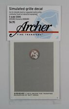 Archer S-Scale (1/64) Simulated Grille Decal Railroad Industrial Eq Mesh AR35380