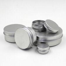 10/15/20/50/100g Aluminum Cosmetic Tin Pot Lip Balm Jar Containers Oil Wax Empty