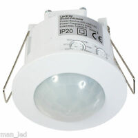 Indoor Energy Saver 360 Degree Recessed Ceiling PIR Light Detector Sensor Switch