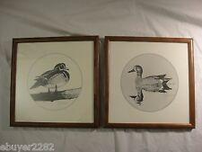 Signed Wood Duck Art by Gijsbert van Frankenhuyzen - 2 Framed Prints