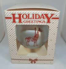 Logansport Indiana Dentzel Carousel Christmas Ornament F/Ship