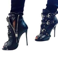 Sexy Women Buckle Super High Heel Stilettos Open Toe Party Sandals Boots 35/43 L