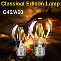 E27 Tsleen G45/A60 4/8/12/16W Edison Retro Filament LED Bulb Globe Light Lamps