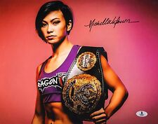 Michelle Waterson Signed UFC 11x14 Photo BAS Beckett COA Karate Hottie Invicta 4