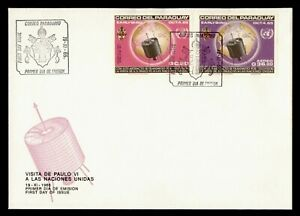 DR WHO 1965 PARAGUAY FDC SPACE CACHET IMPERF COMBO  g21843