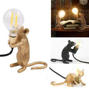 Creative Rat Mice Table Lamp Mouse Desk Lighting Bedside Home Office Desk Decor