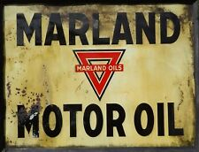 """TIN SIGN """"Marland """"Gas-Oil   Signs  Rustic Wall Decor"""