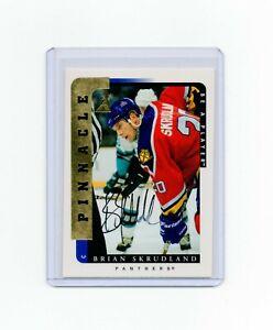 1996/97  PINNACLE BAP GOLD BRIAN SKRUDLAND  AUTOGRAPH CARD # 205