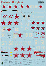 Print Scale 72-027 Decal for Сurtiss P-40 Kittyhawk 1/72 scale
