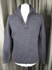 """Polo by Ralph Lauren 100% Lambswool Grey Zip Neck Jumper - L C42-44"""""""