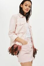 BNWT Topshop Feather Trim Pink Jacket 10