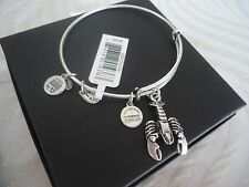 Alex and Ani LOBSTER Russian Silver Charm Bangle NEW W/ TAG CARD and BOX