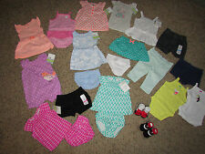 NEW LOT /22 BABY GIRL CLOTHING CARTERS SHORTS ROMPERS SOCKS+ 3 MONTHS  FREE SHIP