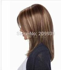LMJF64 new charming straight medium fashion Brown mixed hair wig wigs for women