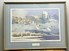 """Ken Carlson 1979 Teton Winter Trumpeters Limited edition Signed Framed 33"""" x 25"""""""