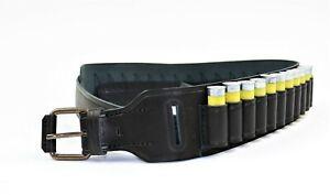 New Genuine Leather Shotgun Shell 24 Cartridge Carrier Belt Bandolier 20 Gauge